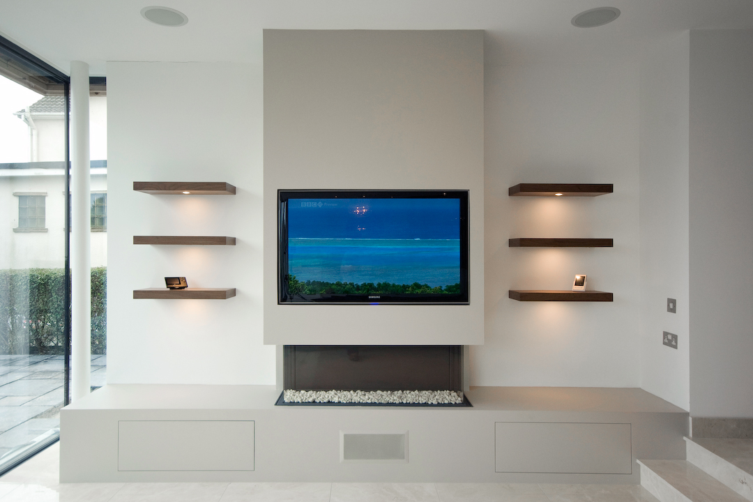 modern media wall harrogate inglish design bespoke