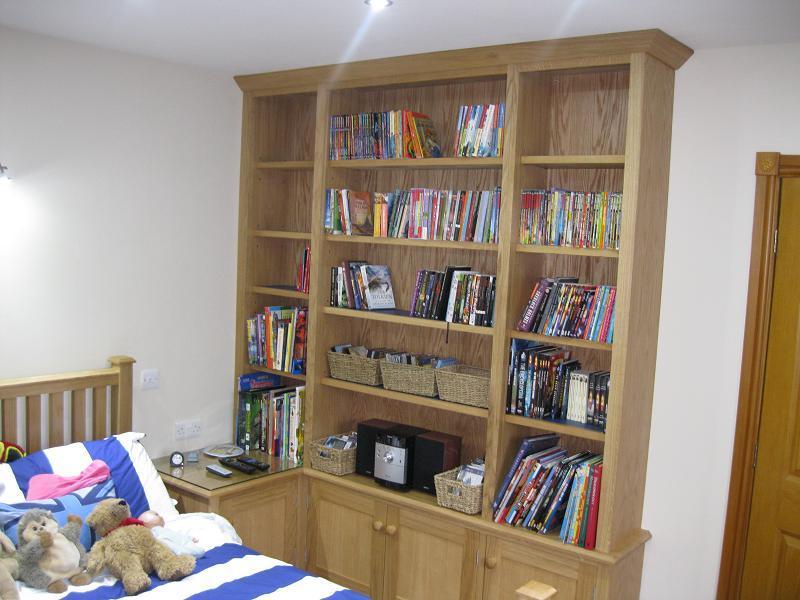 oak bedroom bookcase