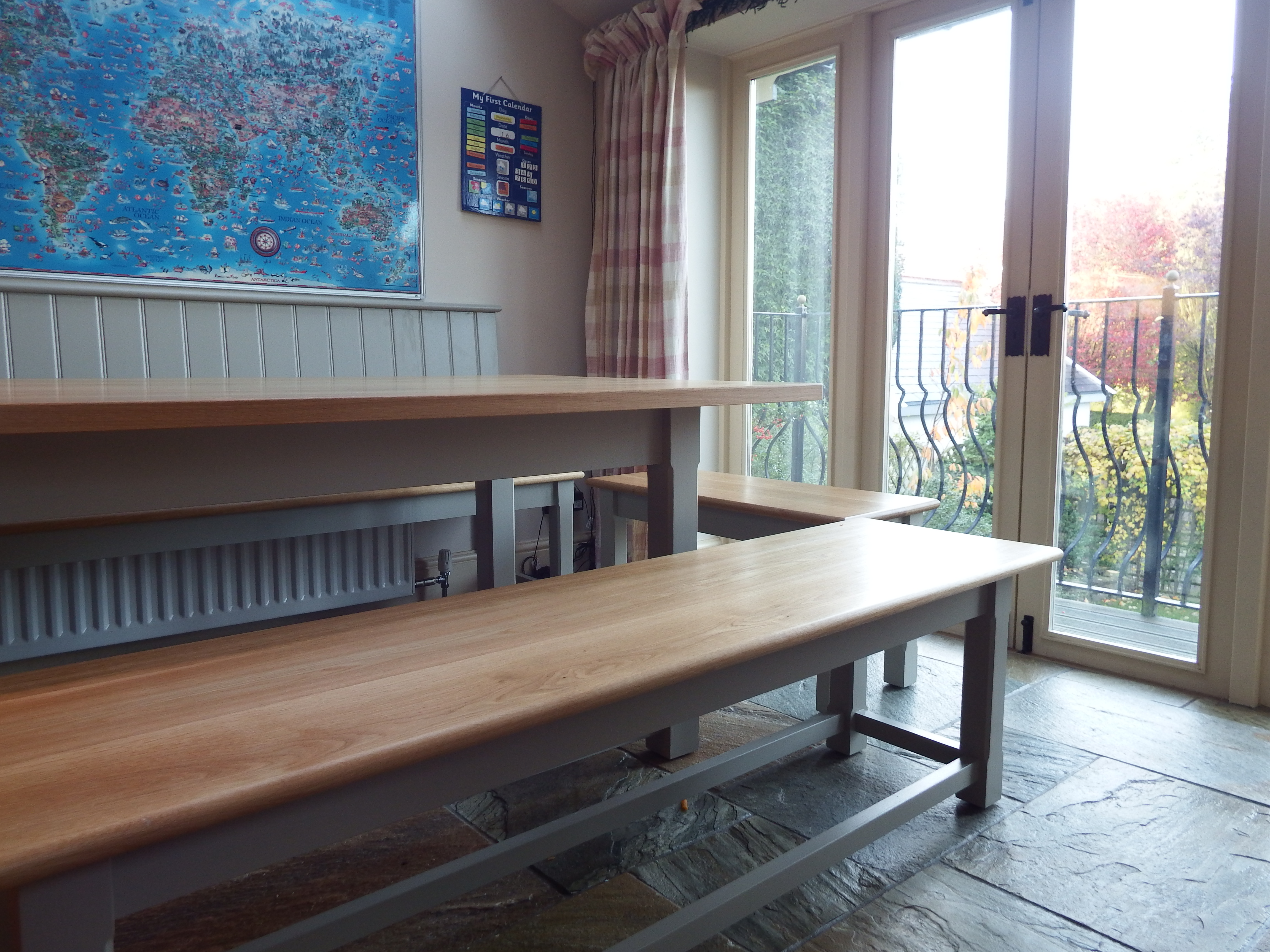 Made to measure tables and bench seats harrogate - Made to measure bench seating ...